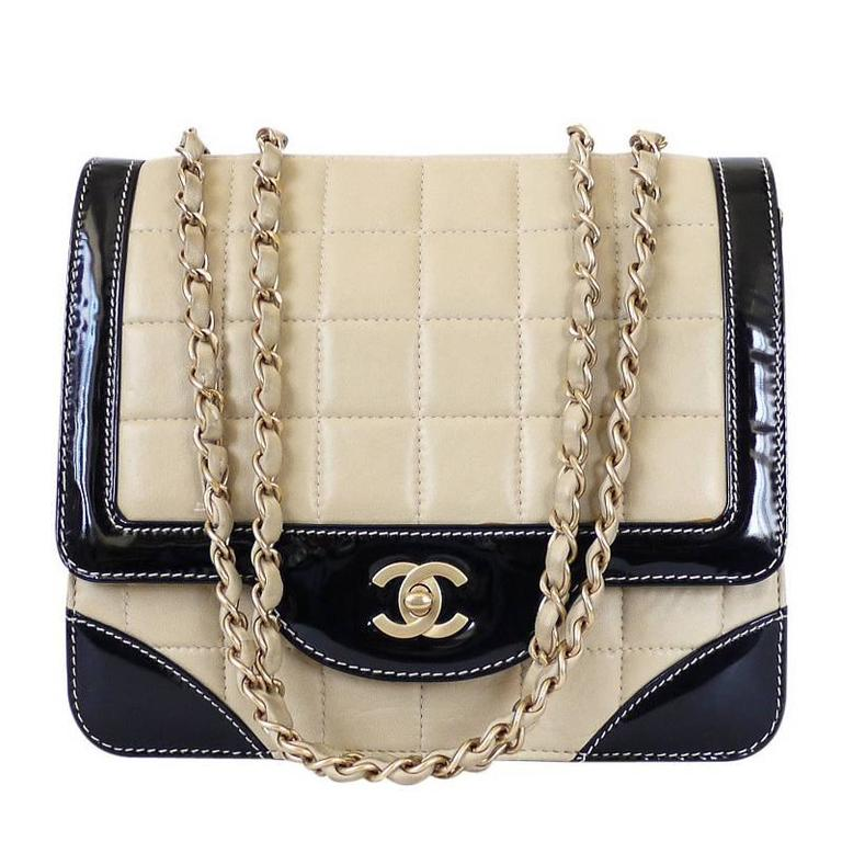 Chanel Bicolor Calfskin Classic Cross Body Flap Bag  For Sale