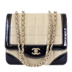 Chanel Bicolor Calfskin Classic Cross Body Flap Bag
