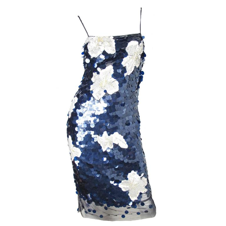 Gianfranco Ferre Navy Disc Dress For Sale