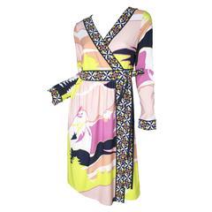 Pucci Silk Printed Wrap Dress