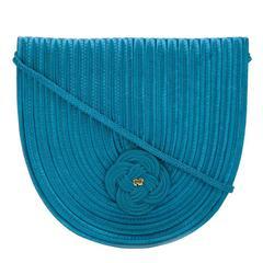 Nina Ricci vintage 80s little turquoise bag
