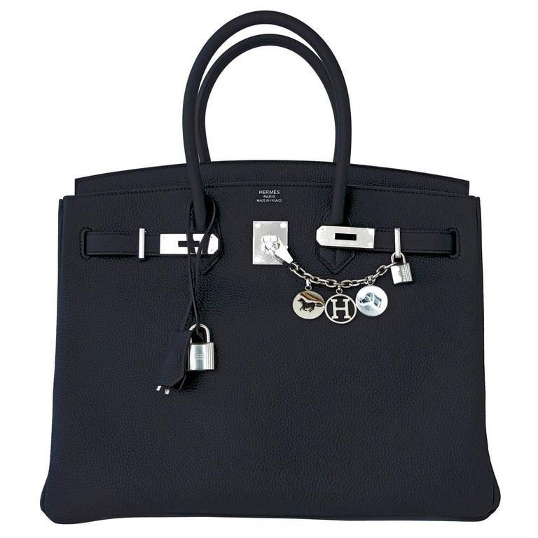 Hermes Black Togo 35cm Birkin Palladium Hardware Bag Superbly Chic 1