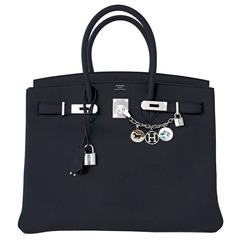 Hermes Black Togo 35cm Birkin Palladium Hardware Bag Superbly Chic