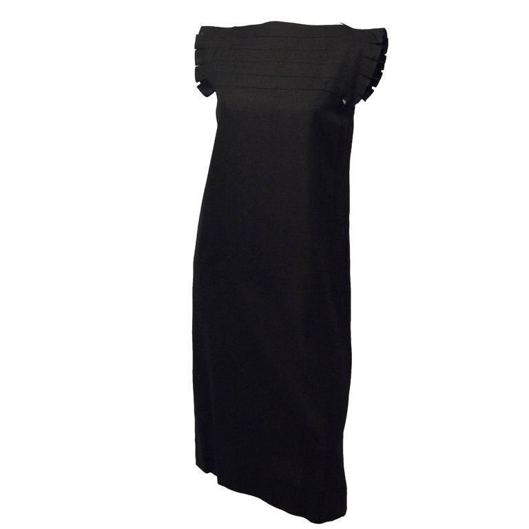 80s Black Shift Dress