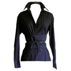 Free Shipping: Tom Ford Gucci FW 2002 Silk Shirt & Obi Belt In Italian Size 42!
