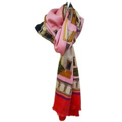 Bright and Beautiful Karl Lagerfeld Silk Shawl