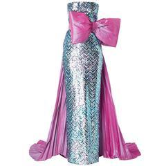 Pierre Cardin haute couture sequin gown, 1991