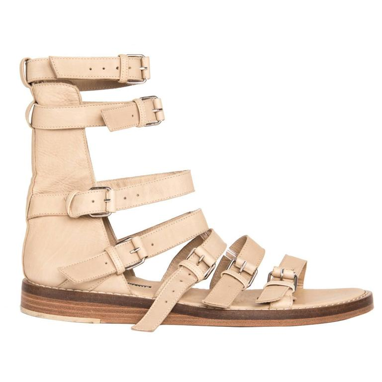 Ann Demeulemeester Tan Gladiator Sandals For Sale