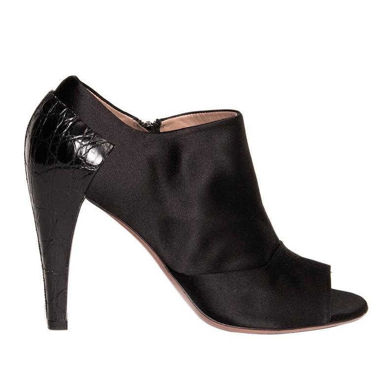 Alaïa Black Peep Toe Ankle Boots