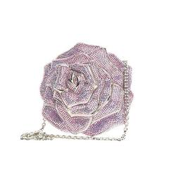 Judith Leiber Rose Minaudiere Crystal Small