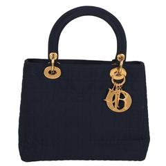 Christian Dior Navy Lady Dior Handbag
