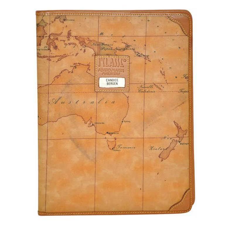 "Alviero Martini ""Map"" Note-Pad Cover For Sale"