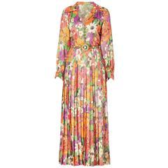 Yves Saint Laurent haute couture floral dress, Spring/Summer 1972