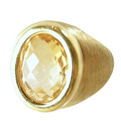Made in Italy Sterling Silver and Gold Citrine Ring