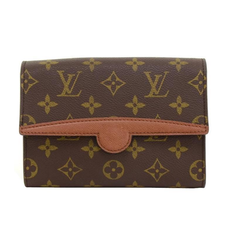 Louis Vuitton Pochette Arche Monogram Canvas Clutch Bag For Sale
