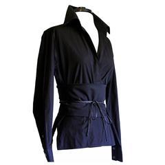 Free Shipping: Tom Ford Gucci FW 2002 Silk Shirt & Obi Belt In Italian Size 44!