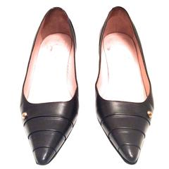 Chanel Dark Brown Leather Pumps - Size 38