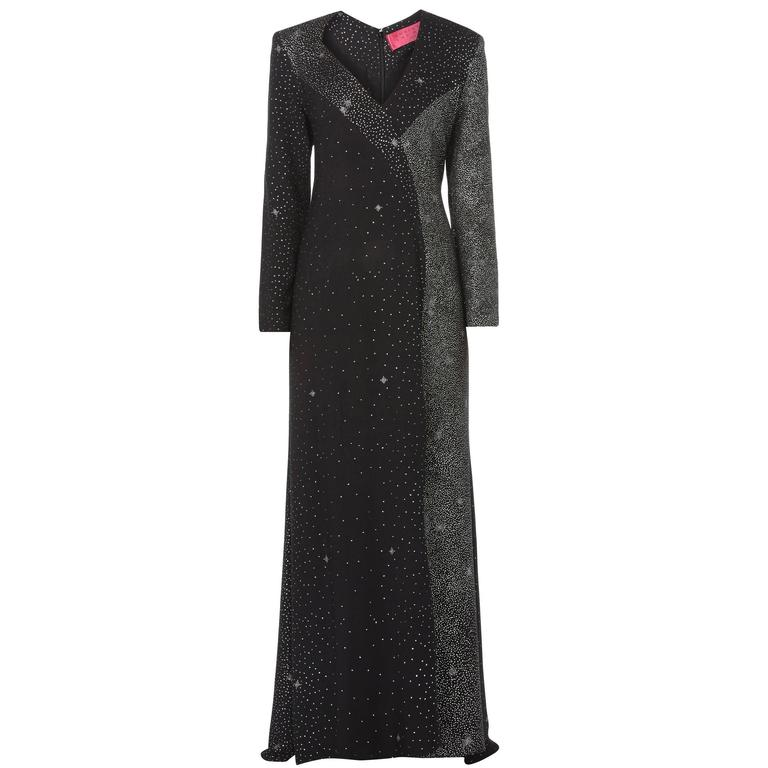 Christian Lacroix black maxi dress, circa  1