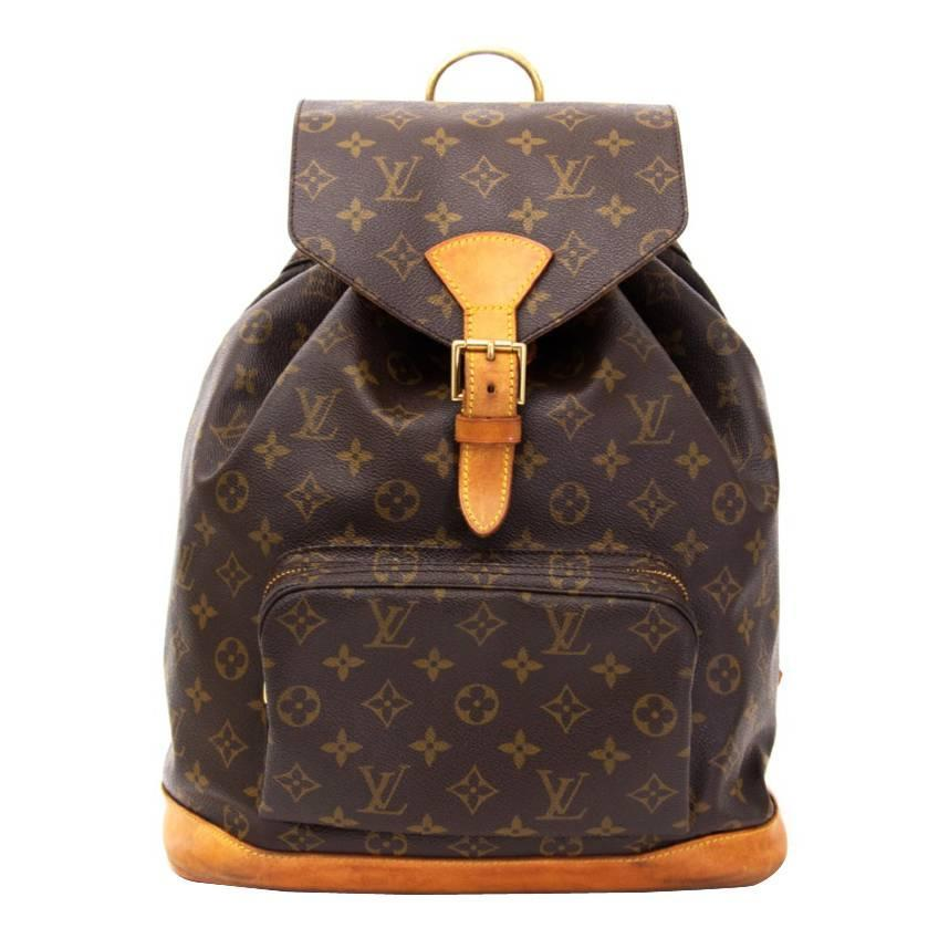 louis vuitton montsouris backpack for sale at 1stdibs. Black Bedroom Furniture Sets. Home Design Ideas