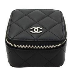 Chanel 2016 Black Quilted Leather Jewelry Box with SHW