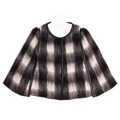 Prada Black & White Mohair Caplet
