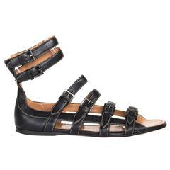 Alaïa Black Gladiator Sandals