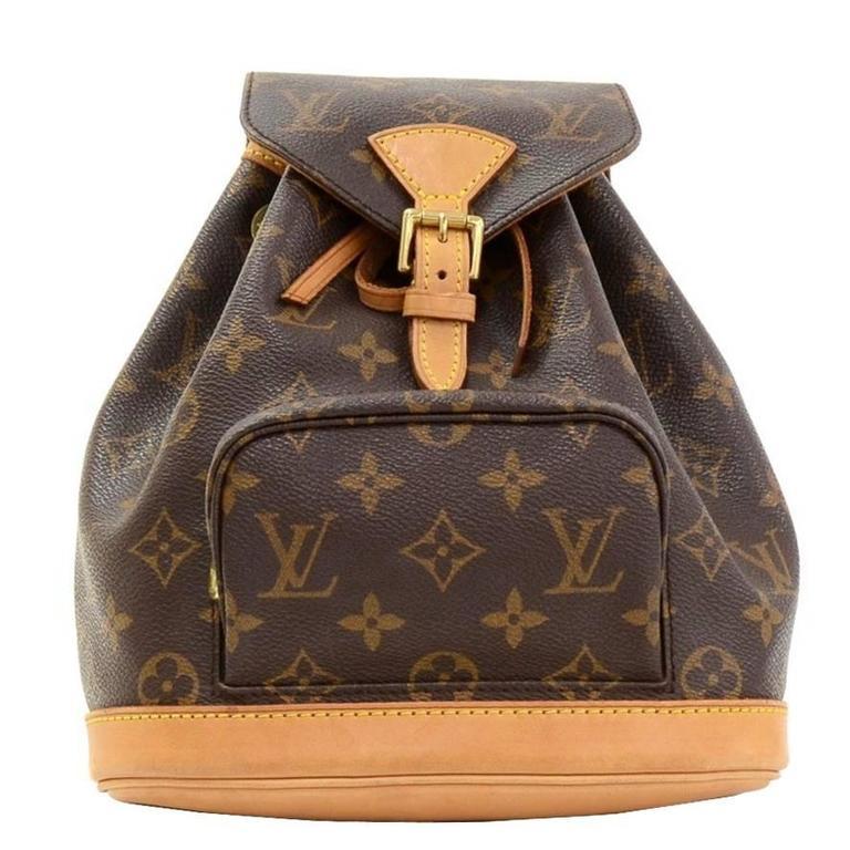 2fccd7d6673e 2000 Louis Vuitton Brown Classic Monogram Canvas Mini Montsouris Backpack  For Sale.