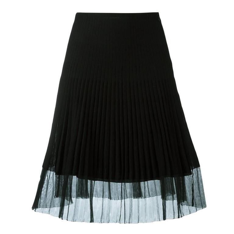 Christian Dior Ribbed A-Line skirt