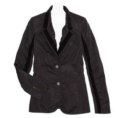 Yves Saint Laurent Black Silk Fitted Tuxedo Style Jacket