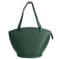Huge Louis Vuitton Saint Jacques bag handbag in Borneo Green