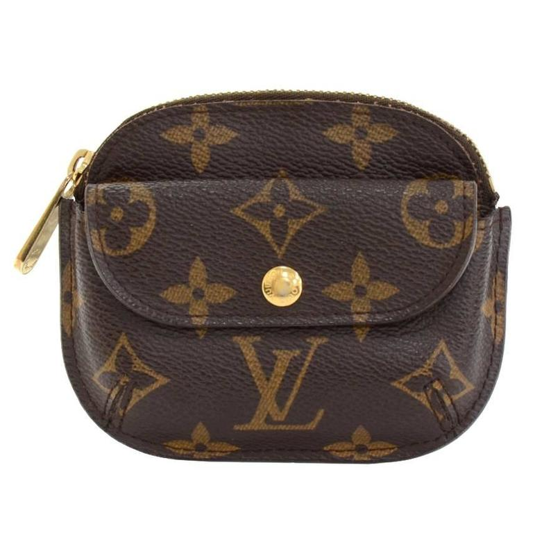louis vuitton porte monnaie shilling monogram canvas coin at 1stdibs