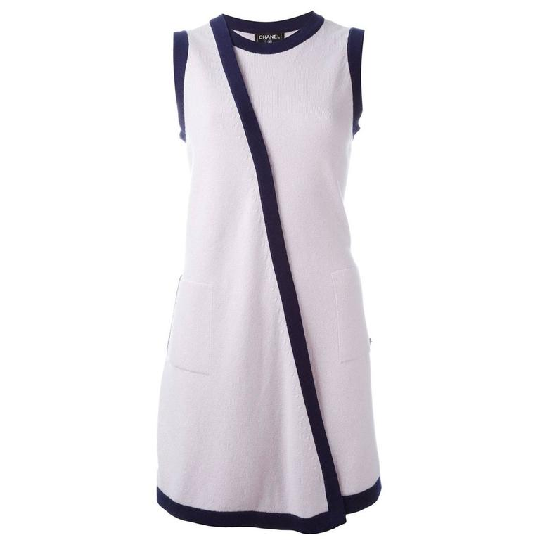 Chanel Sleeveless Cardigan Dress