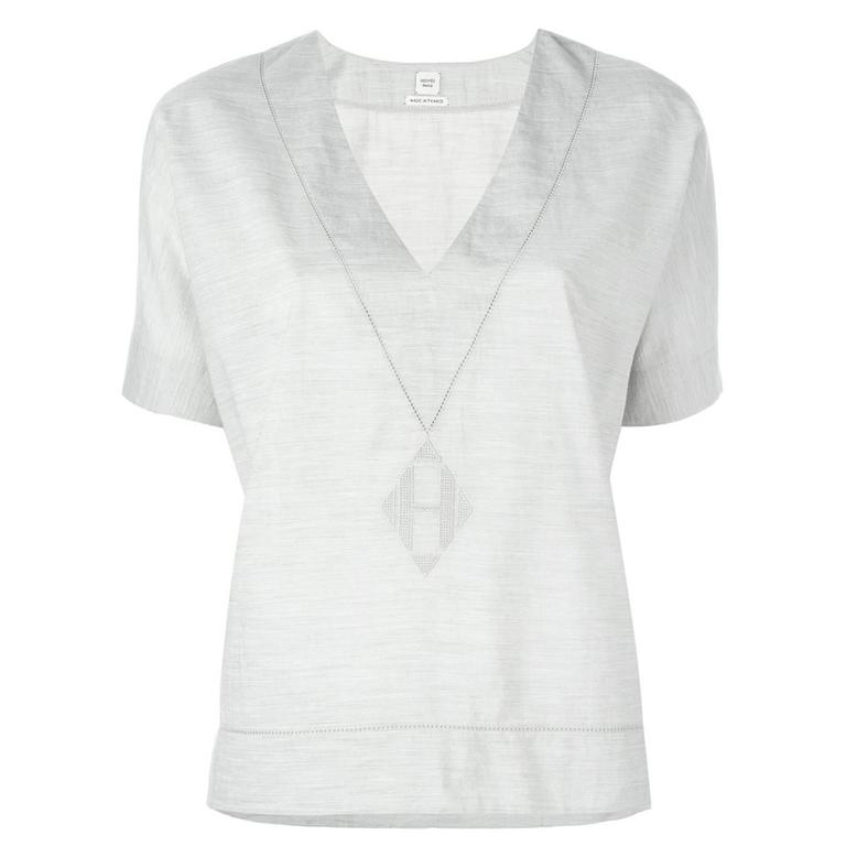Hermes V-Neck Top 1