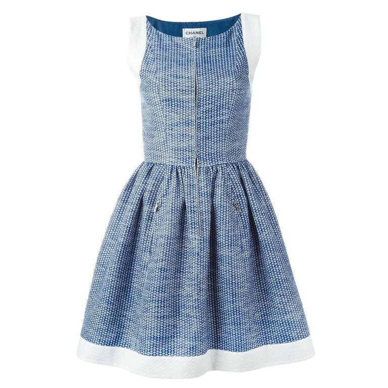 Chanel Pleated A-Line Dress 1