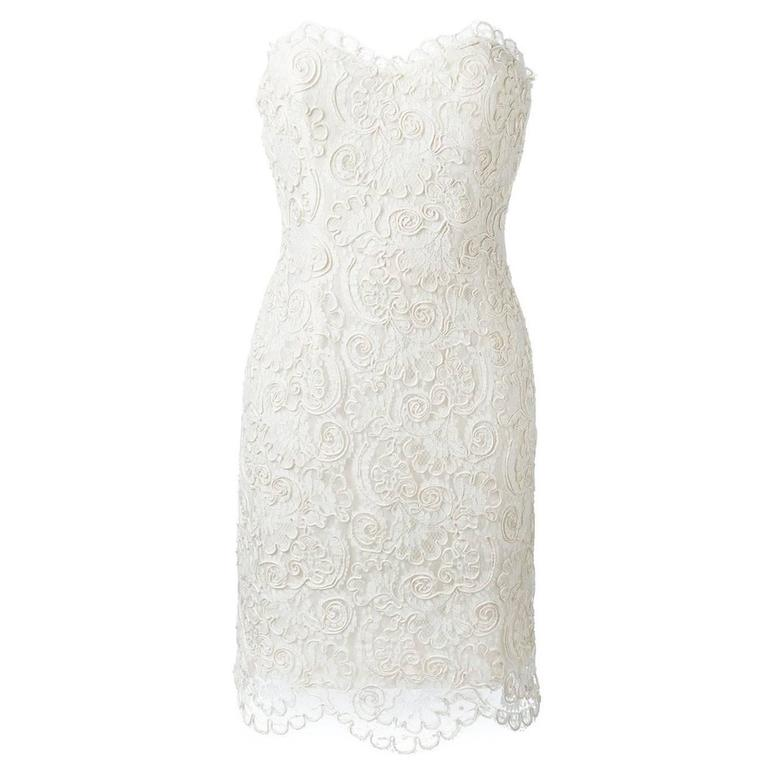 Chanel Strapless Lace Dress