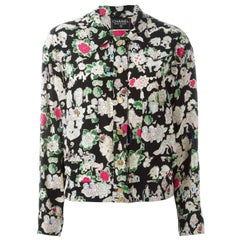 Chanel Vintage Floral Print Blouse
