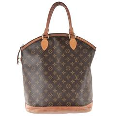 LOUIS VUITTON Brown Monogram Canvas LOCKIT VERTICAL Tote HANDBAG Purse