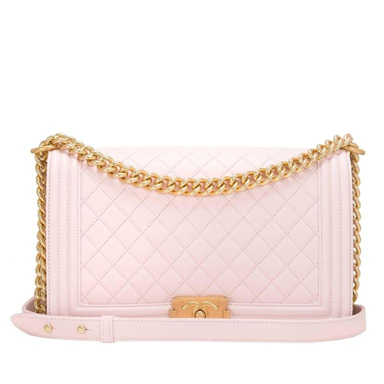 Chanel Pink Quilted Lambskin New Medium Boy Bag For Sale