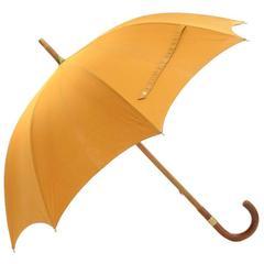 Hermes Yellow Cotton Large Sunshade Umbrella