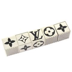 Louis Vuitton Black x Silver Tone Cube Dice Game Set - 2011 Limited