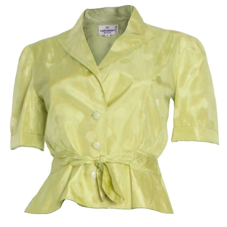 Valentino Chartreuse Short Sleeve Jacket