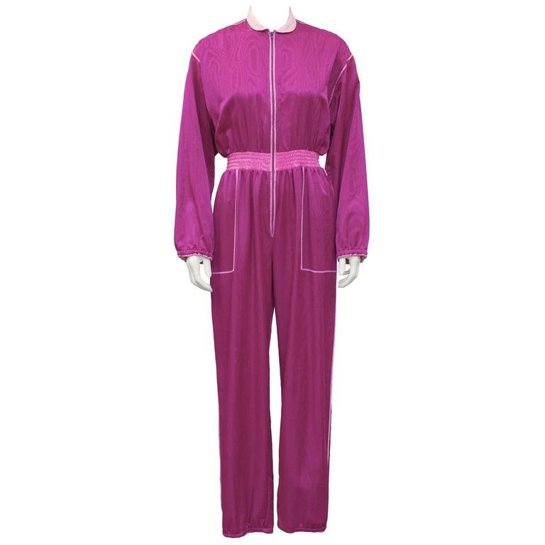 1970's Fernando Sanchez Magenta and Pink Jumpsuit