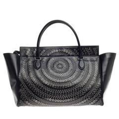 Alaia Grommet Zip Tote Leather Large