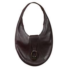 BULGARI BVLGARI Brown Soft Leather HOBO Shoulder Bag OVAL HANDBAG