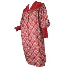 Yves Saint Laurent Rive Gauche Plaid Sack Dress