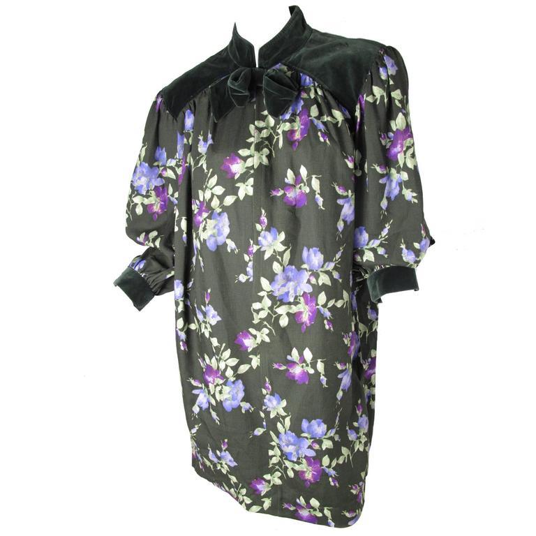 Yves Saint Laurent Rive Gauche Floral Sack Dress For Sale