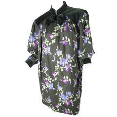 Yves Saint Laurent Rive Gauche Floral Sack Dress