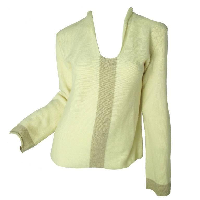 Chanel Cashmere Sweater For Sale at 1stdibs