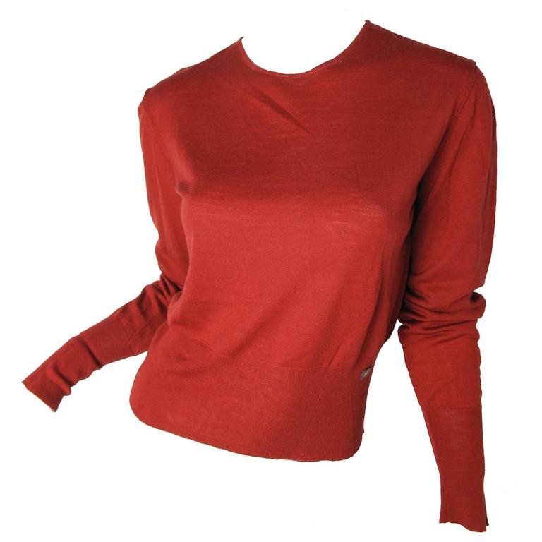 Chanel Rust Fine Wool Sweater - sale 1