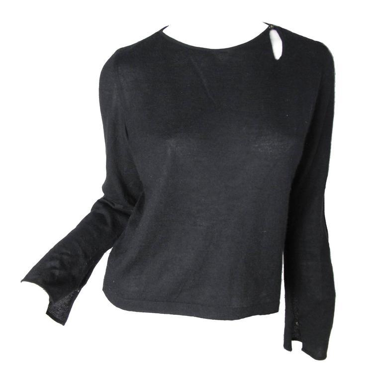 Chanel Black Cashmere Tear Drop Sweater -sale 1